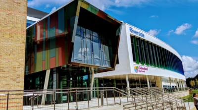 Insulated render at Riverside Leisure Centre